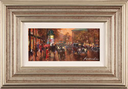 Gordon Lees, Original oil painting on panel, Streets of Paris