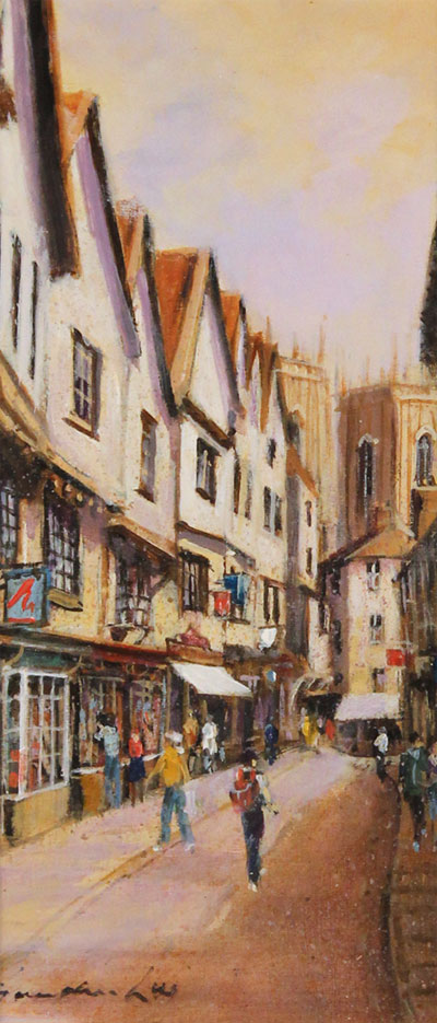 Gordon Lees, Original oil painting on panel, A Day Out in York