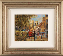 Gordon Lees, Original oil painting on panel, King's Square, York