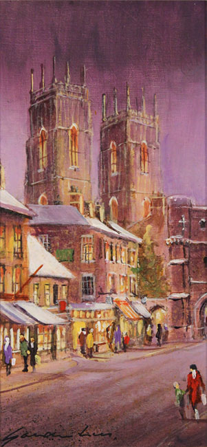 Gordon Lees, Original oil painting on panel, Bootham Bar, York No frame image. Click to enlarge