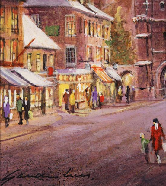 Gordon Lees, Original oil painting on panel, Bootham Bar, York Signature image. Click to enlarge