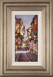 Gordon Lees, Original oil painting on panel, The Shambles, York Medium image. Click to enlarge