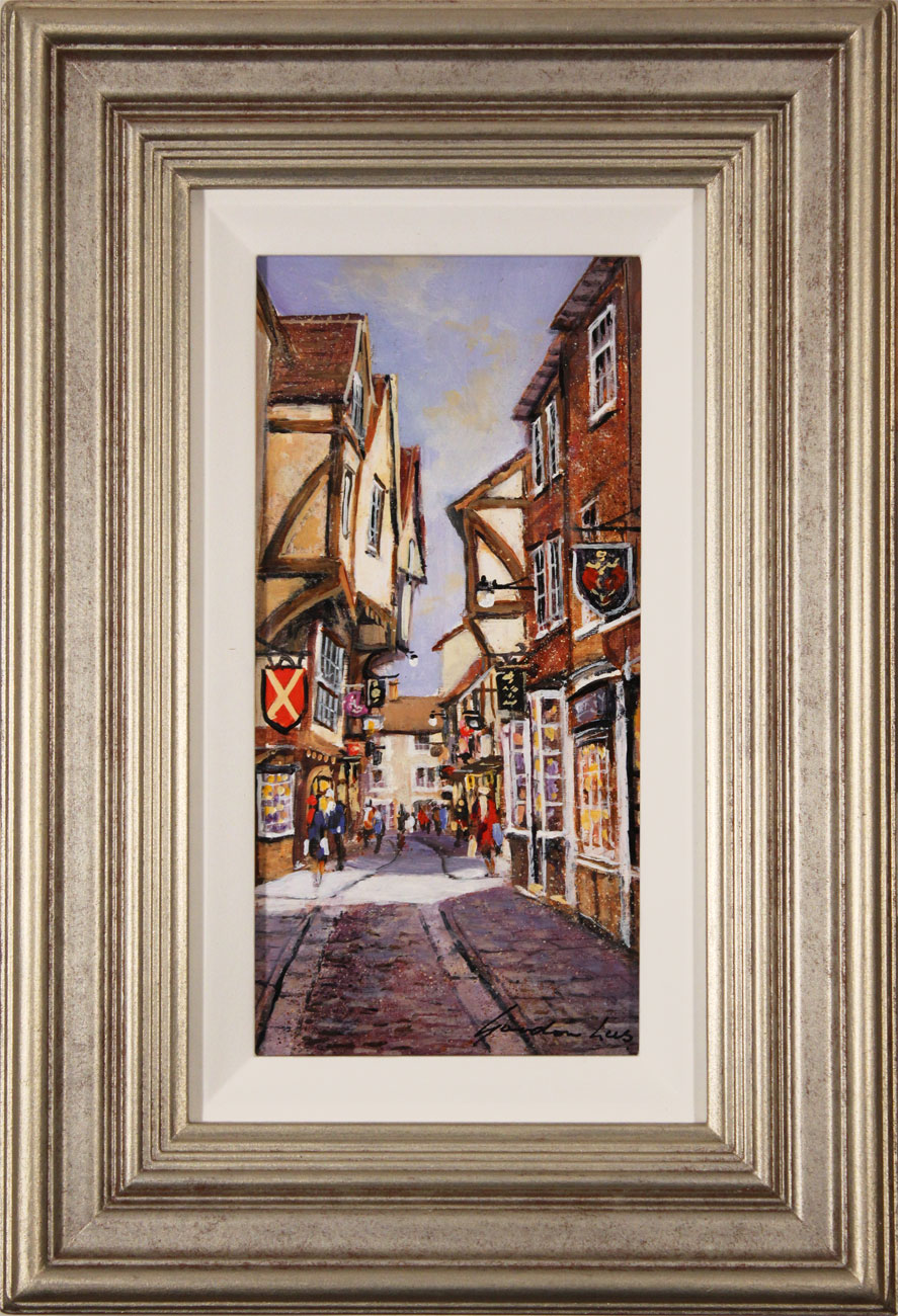 Gordon Lees, Original oil painting on panel, The Shambles, York Click to enlarge