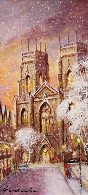 Gordon Lees, Original oil painting on panel, York Minster No frame image. Click to enlarge