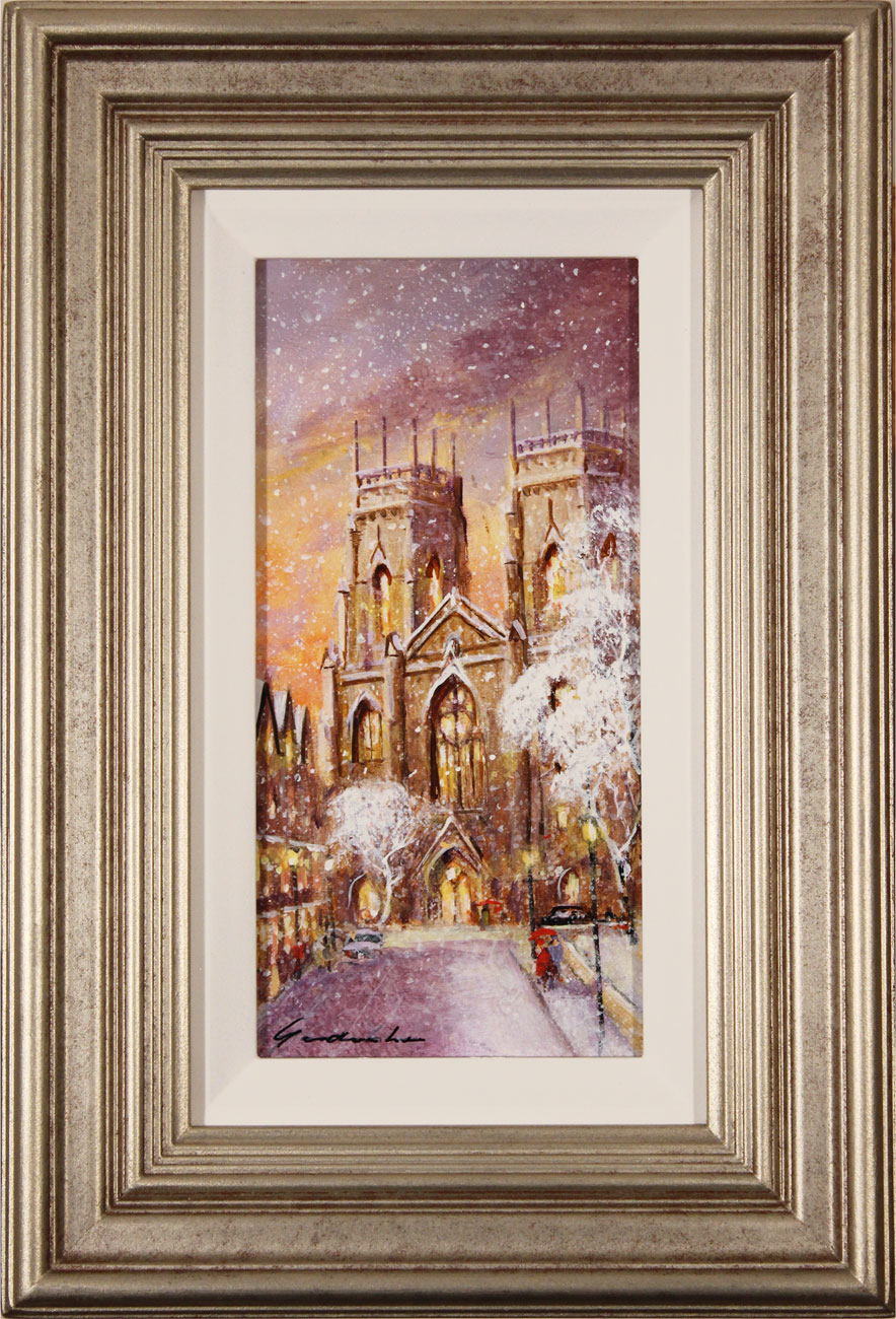 Gordon Lees, Original oil painting on panel, York Minster Click to enlarge