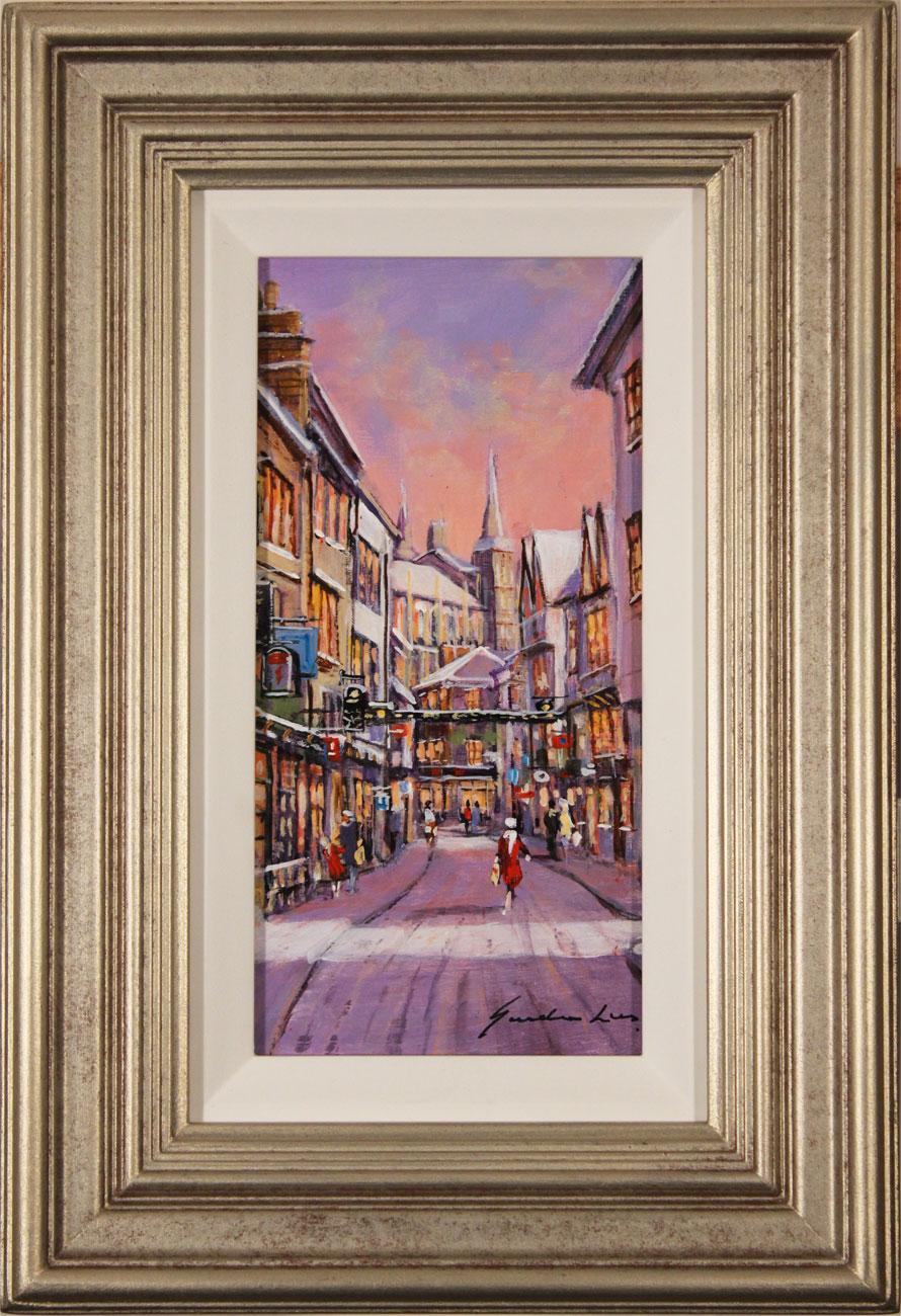 Gordon Lees, Original oil painting on panel, Stonegate, York Click to enlarge