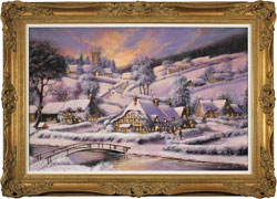 Gordon Lees, Original oil painting on panel, A Winter's Eve