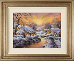 Gordon Lees, Original oil painting on panel, Freshly Fallen Snow, The Cotswolds Medium image. Click to enlarge