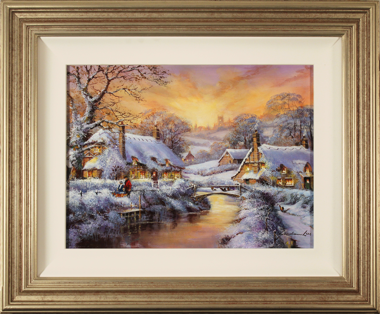 Gordon Lees, Original oil painting on panel, Freshly Fallen Snow, The Cotswolds Click to enlarge