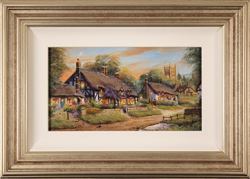 Gordon Lees, Original oil painting on panel, Summer Evensong