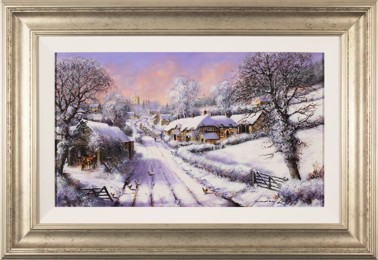 Gordon Lees, Original oil painting on canvas, Fading Light of a Winter's Eve Click to enlarge