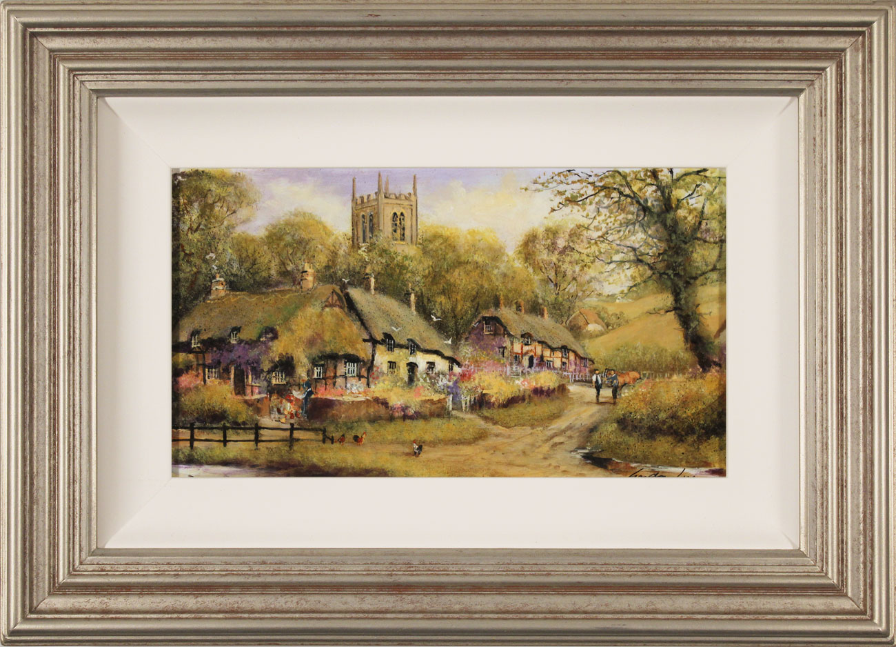 Gordon Lees, Original oil painting on panel, A Summer Evensong Click to enlarge