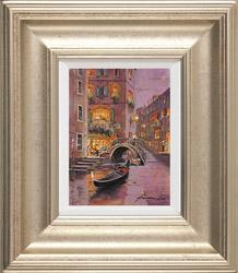 Gordon Lees, Original oil painting on panel, Venetian Twilight  Medium image. Click to enlarge