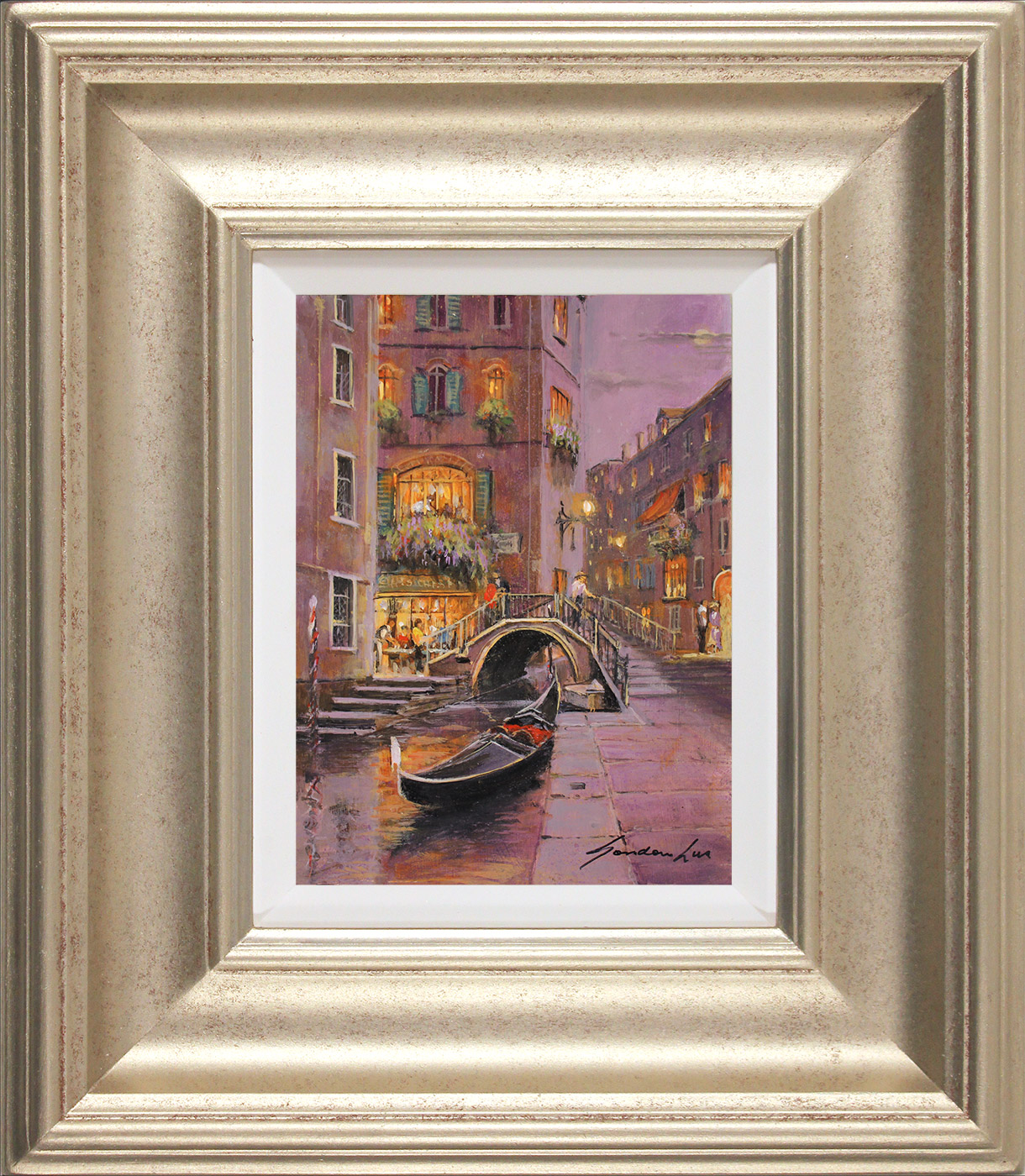 Gordon Lees, Original oil painting on panel, Venetian Twilight  Click to enlarge