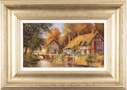 Gordon Lees, Original oil painting on panel, Riverside Cottage