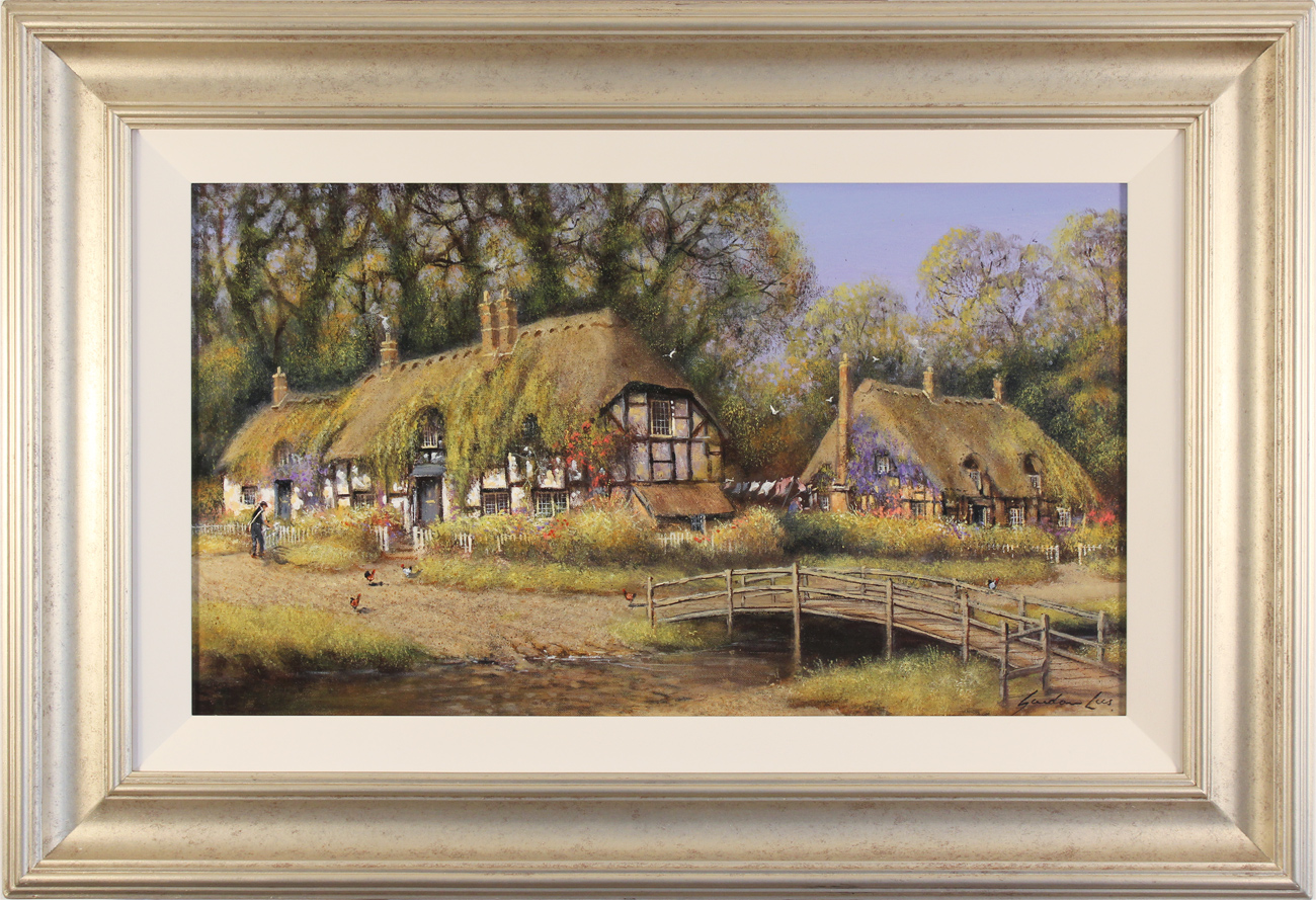 Gordon Lees, Original oil painting on canvas, Summer Days in Ivy Cottages Click to enlarge