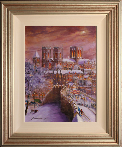 Gordon Lees, Original oil painting on canvas, Lendal Bridge, York Click to enlarge