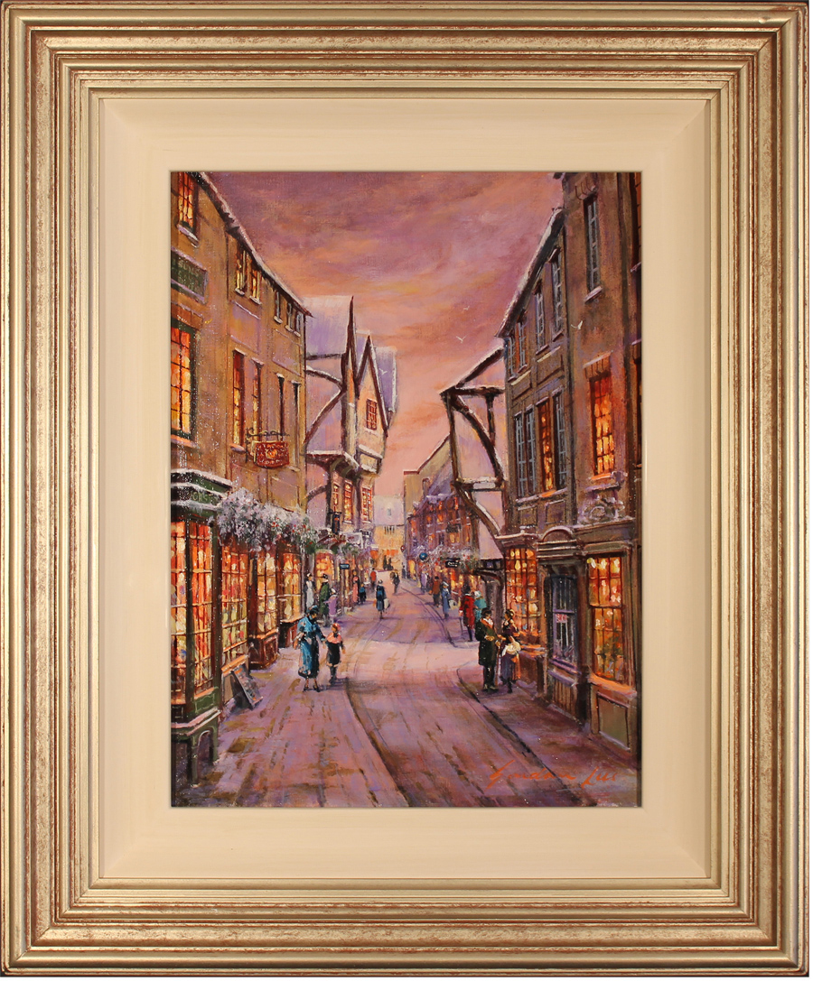 Gordon Lees, Original oil painting on canvas, The Shambles, York Click to enlarge