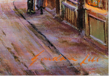 Gordon Lees, Original oil painting on canvas, The Shambles, York Signature image. Click to enlarge