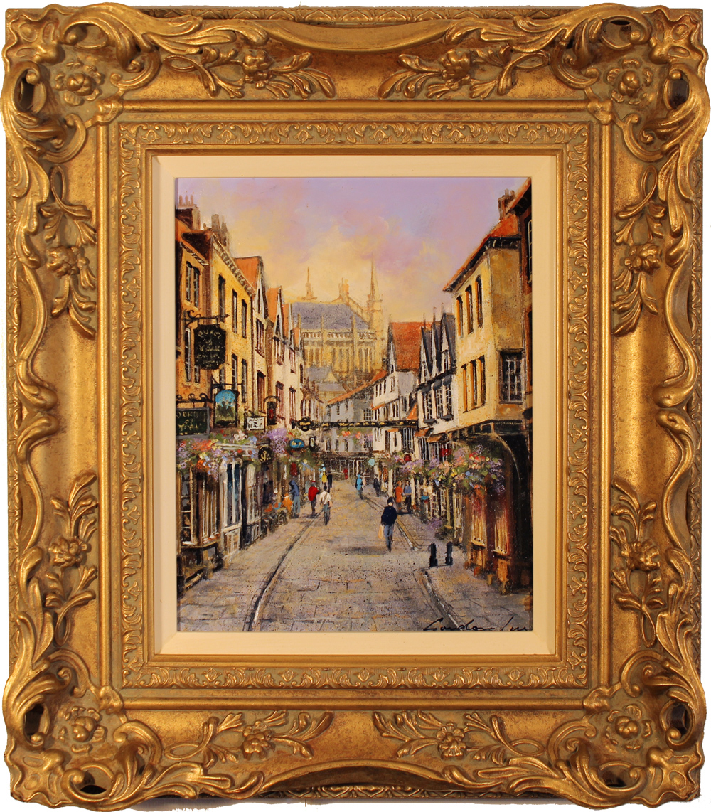 Gordon Lees, Original oil painting on canvas, Stonegate, York Click to enlarge