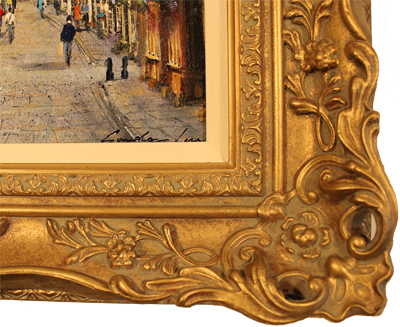 Gordon Lees, Original oil painting on canvas, Stonegate, York Signature image. Click to enlarge