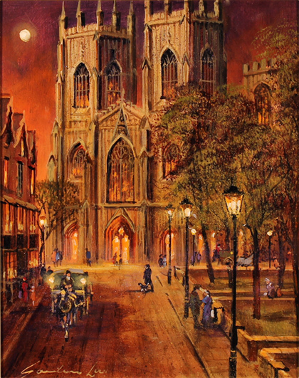 Gordon Lees, Original oil painting on canvas, York Minster No frame image. Click to enlarge