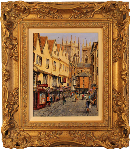 Gordon Lees, Original oil painting on canvas, Low Petergate, York