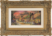 Gordon Lees, Original oil painting on panel, Cotswolds Village