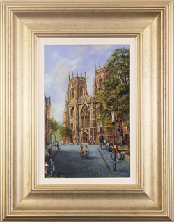 Gordon Lees, Blue Skies over York, Original oil painting on panel