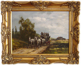 Graham Isom, Original oil painting on canvas, Horse and Cart