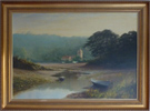 Graham Petley, Oil on canvas, 'Tide Out' St Just, Roseland