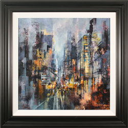 Hilary Dancer, Original oil painting on canvas, The City Never Sleeps