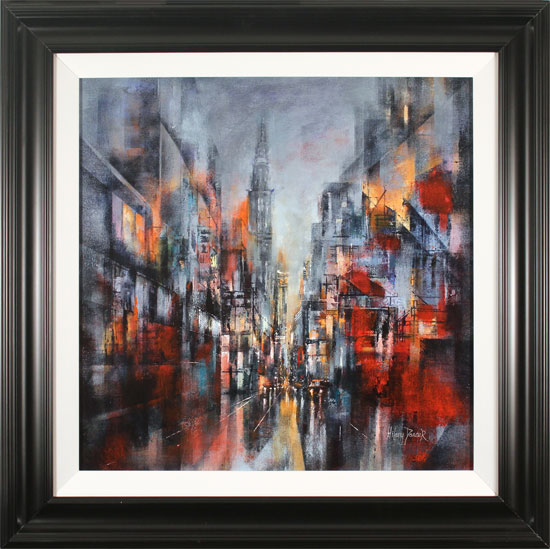 Hilary Dancer, Original oil painting on canvas, Lights of the City