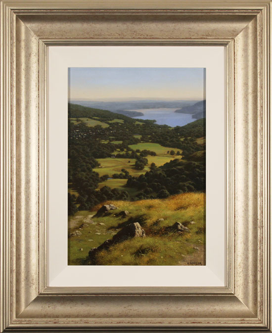 Howard Shingler, Original oil painting on canvas, Windermere from Nab Scar