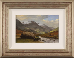 Howard Shingler, Original oil painting on panel, High Stile from Gatesgarthdale Beck