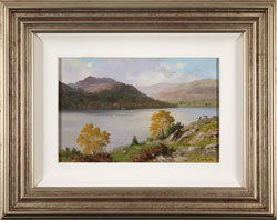 Howard Shingler, Original oil painting on panel, Sheffield Pike from Silver Point, Ullswater