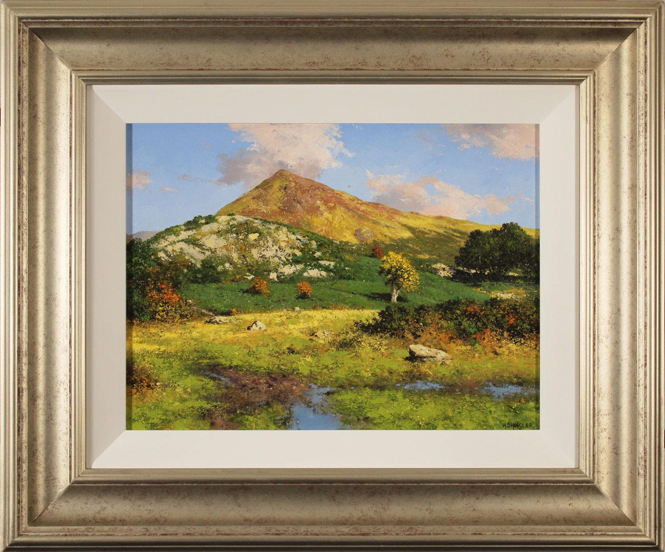 Howard Shingler, Original oil painting on panel, Grassmoor, Rannerdale Click to enlarge