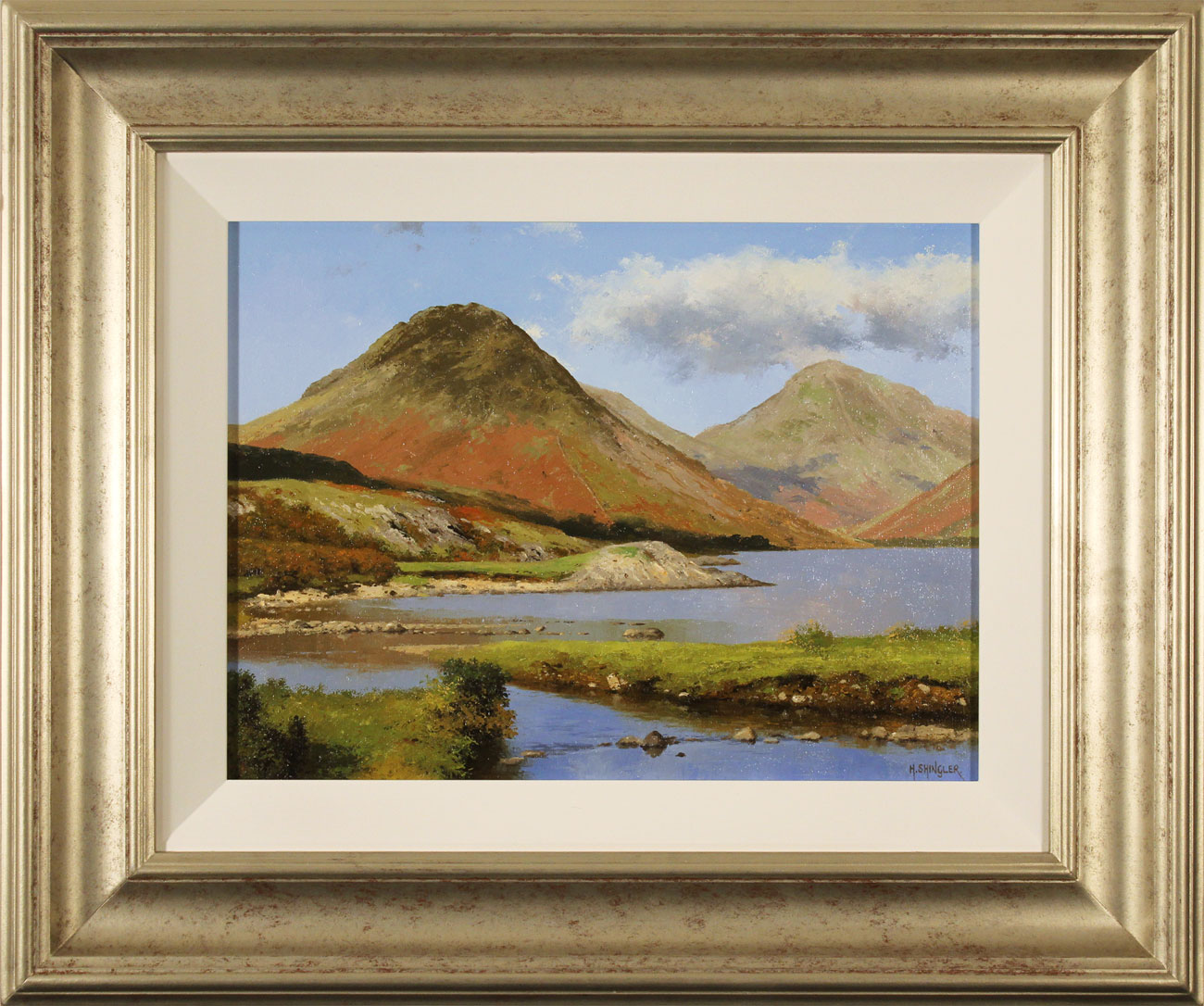 Howard Shingler, Original oil painting on panel, Yewbarrow from Wastwater Click to enlarge
