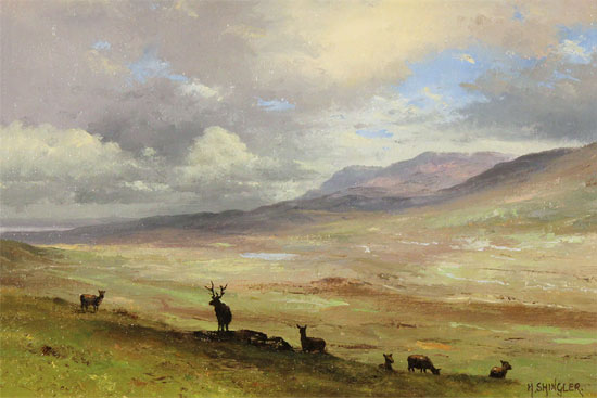 Howard Shingler, Original oil painting on panel, North Highlands No frame image. Click to enlarge