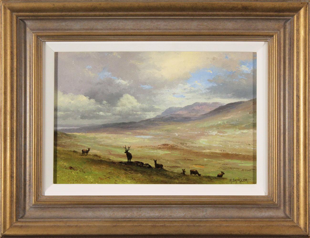 Howard Shingler, Original oil painting on panel, North Highlands Click to enlarge