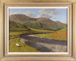 Howard Shingler, Original oil painting on canvas, High Stile, from Gatesgarthdale Beck, Buttermere