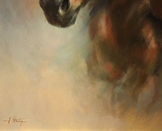 Jacqueline Stanhope, Original oil painting on canvas, Mare and Foal Signature image. Click to enlarge