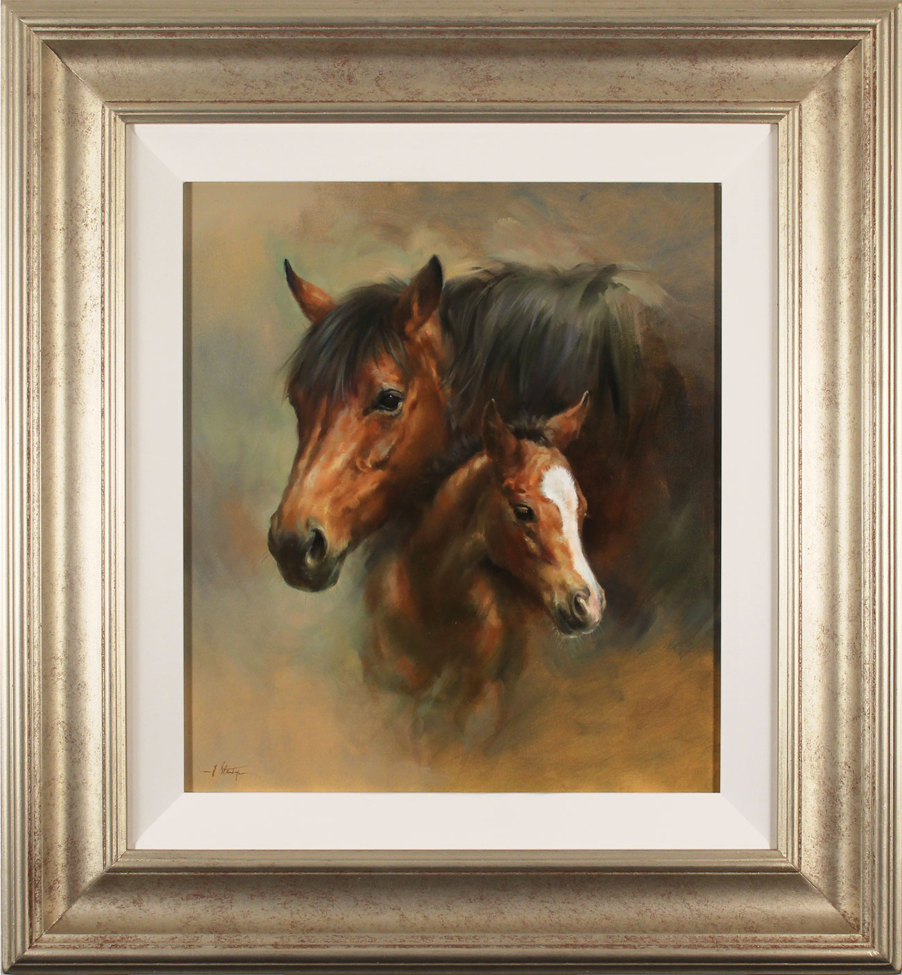 Jacqueline Stanhope, Original oil painting on canvas, Mare and Foal Click to enlarge