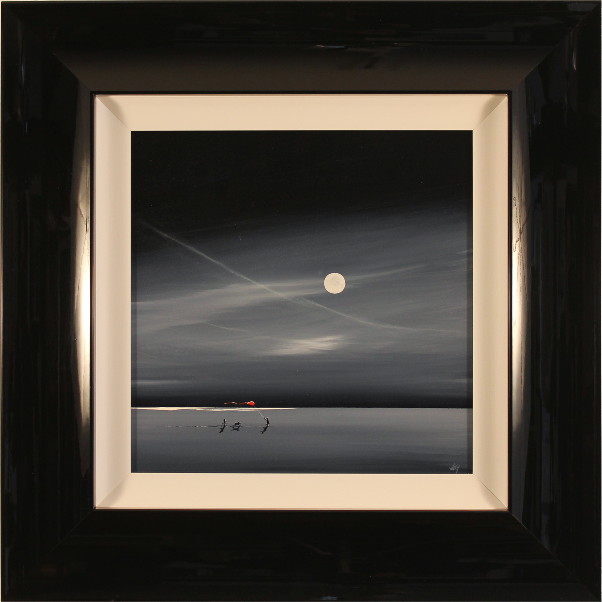 Jay Nottingham, Original oil painting on panel, Moonlight Kite Click to enlarge