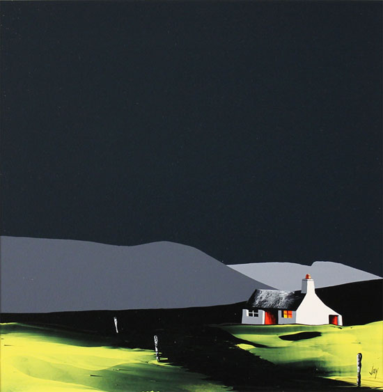 Jay Nottingham, Original oil painting on panel, South Downs No frame image. Click to enlarge