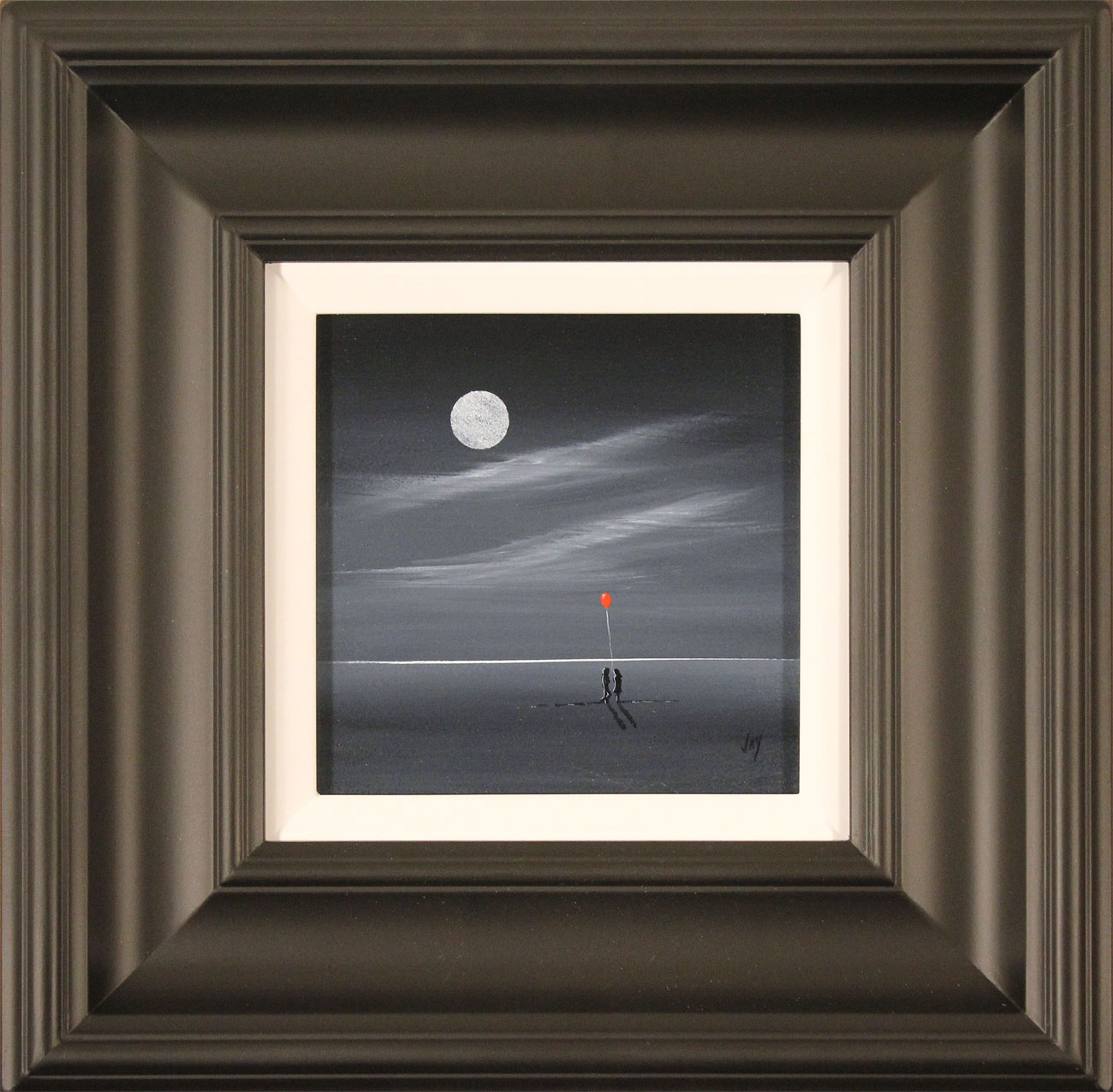 Jay Nottingham, Original oil painting on panel, Moonlight Meeting Click to enlarge