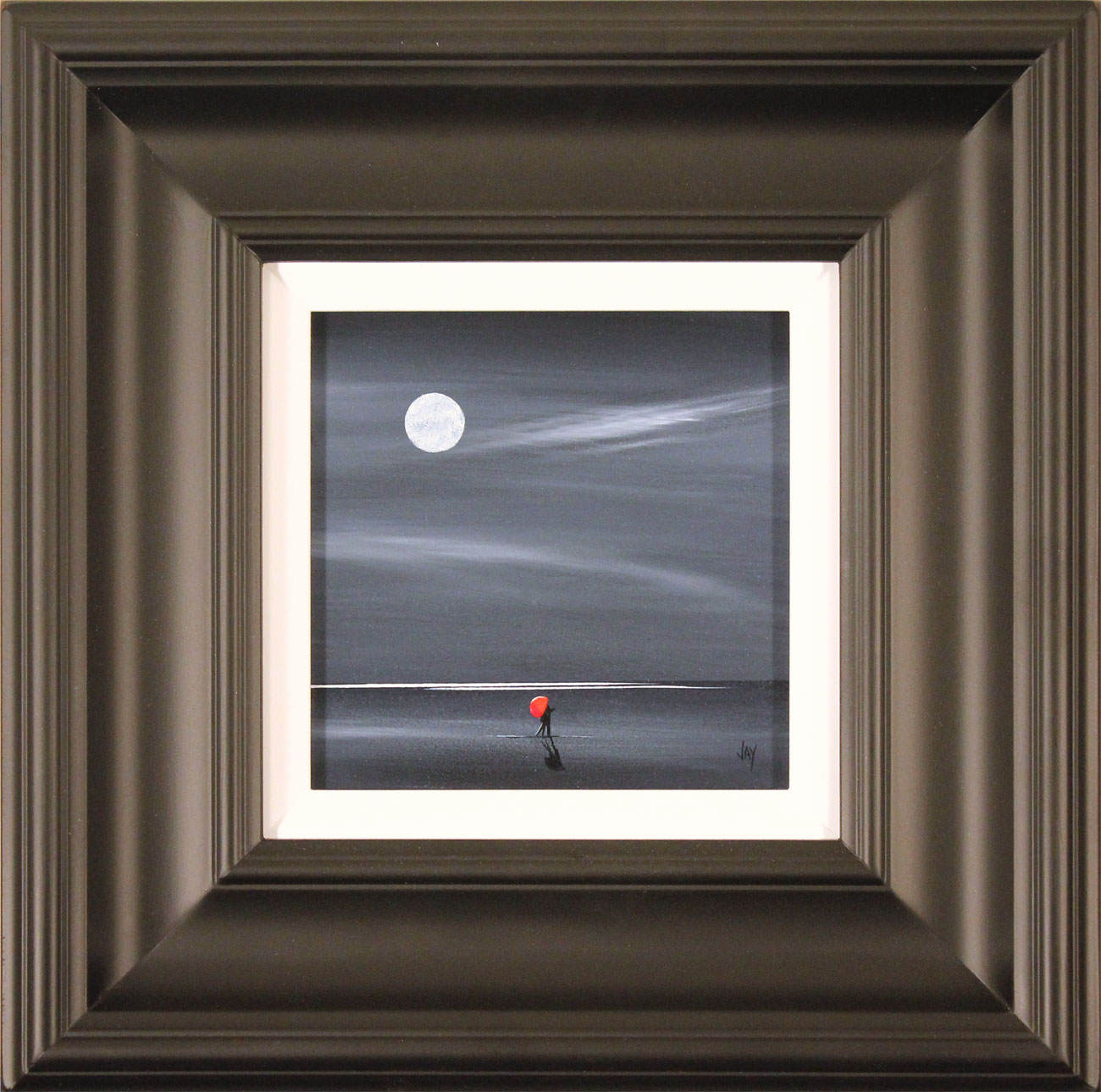 Jay Nottingham, Original oil painting on panel, Moonlight Kiss Click to enlarge