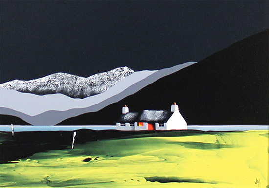 Jay Nottingham, Original oil painting on panel, Secluded Cottage  Signature image. Click to enlarge