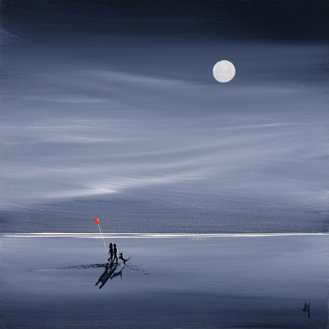 Jay Nottingham, Signed limited edition print, Moonlight Stroll Click to enlarge