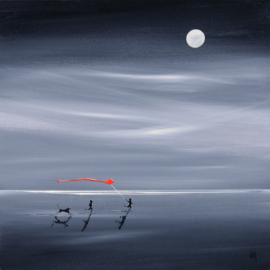 Jay Nottingham, Signed limited edition print, Moonlight Games No frame image. Click to enlarge